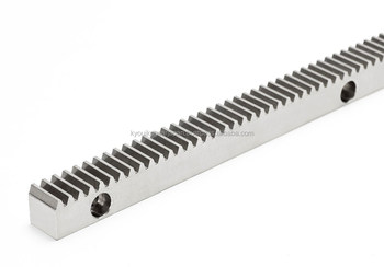 Rack gear with bolt holes Module 2.0 Length 300mm Stainless steel Made in Japan KG STOCK GEARS