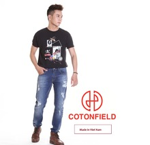 Dañado Leasted Top Design Plus Tamaño Casual Ripped Jeans Para Hombres
