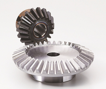 Straight bevel gear Module 2.5 Ratio 2 Carbon steel Made in Japan KG STOCK GEARS