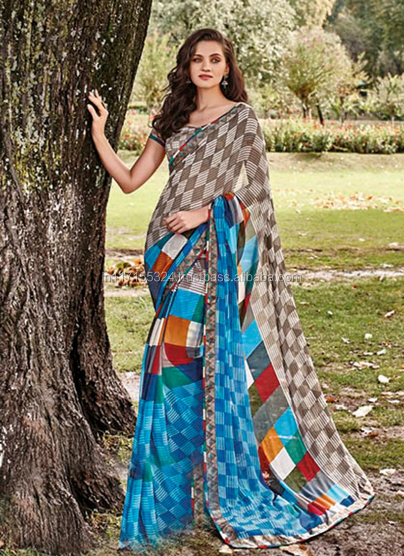 05c7a56faa Daily wear printed indian wear saree - Low range printed saree - Trendy  printed party wear saree - Branded sarees collection 4vq