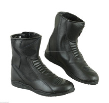 Arrow Gear Black Leather New Motorcycle Motorbike Racing Boots