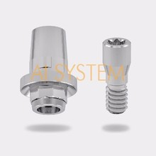Dental Implant Titanium based Abutment / Titanium based Abutment / Compatible with straumann Tissue Level