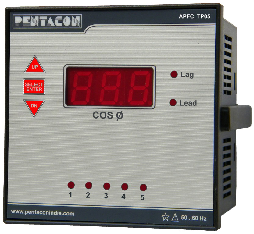 SINGLE PHASE 5 STAGE POWER FACTOR RELAY