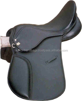 New Genuine Leather Adjustable Jumping Horse Saddle