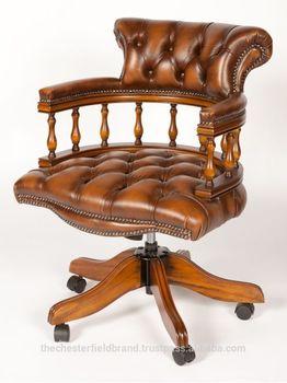 Chesterfield Salle Dexposition Caramel Couleur Chaise De Bureau