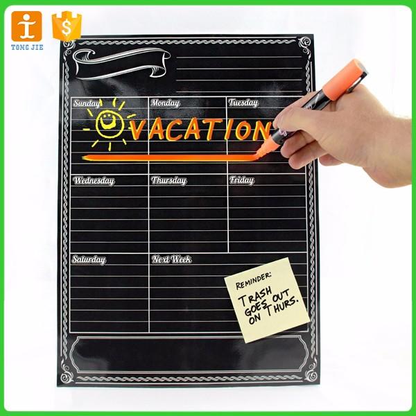 Black Magnetic Chalkboard Dry Erase Weekly and Mo<em></em>nthly Planner