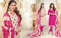 Punjabi Cotton Printed Unstitched Churidar Fancy Indian Suits