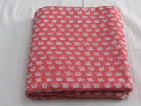wholesale indian handmade pink elephant print 100% cotton print fabric
