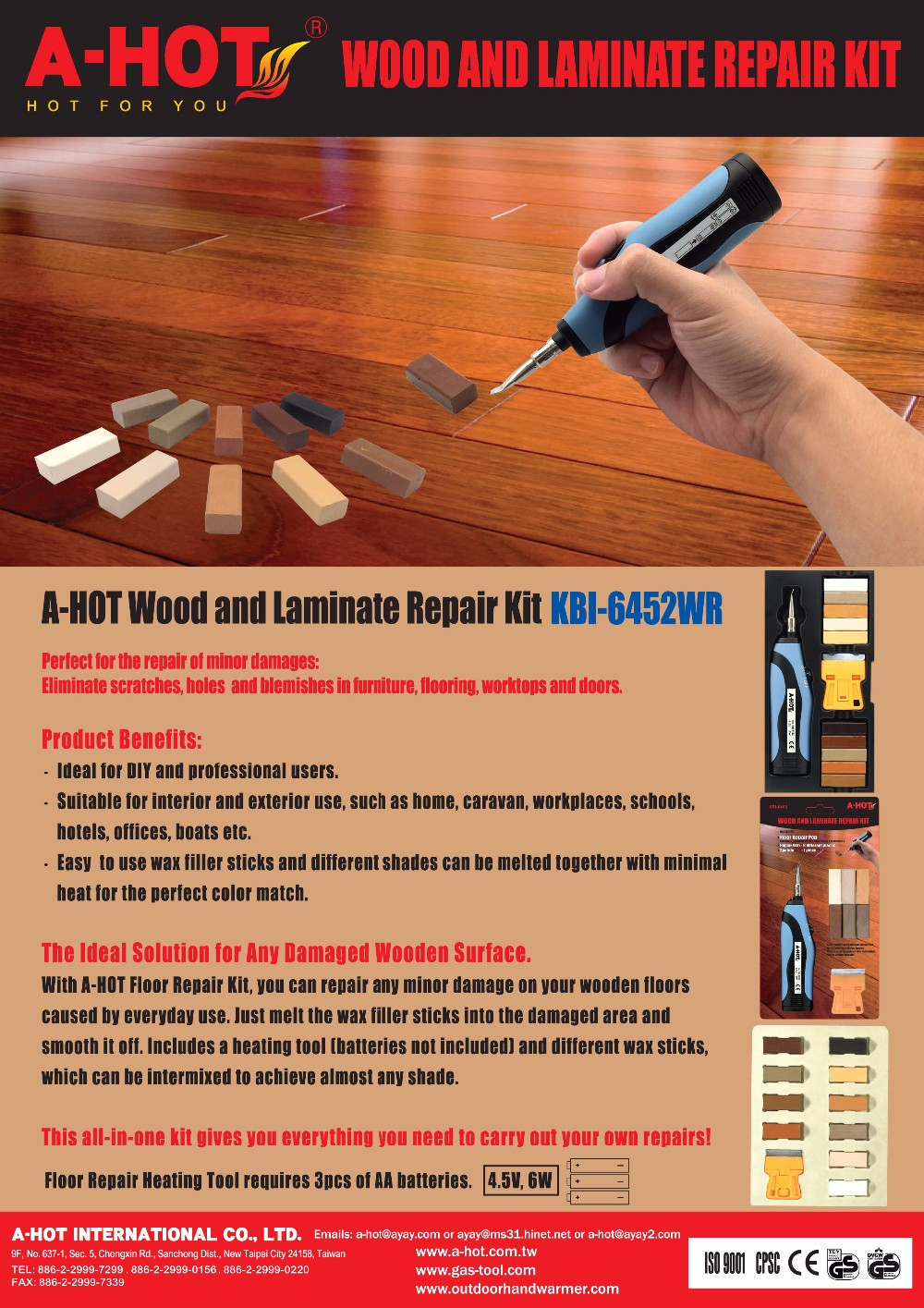 Mini And Electronic Wood Floor Fix Kit With Repair Wax Set Buy