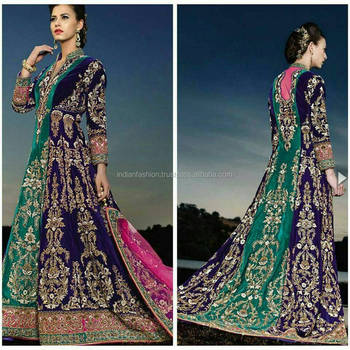 Indian Bridal Gown In Two Colors