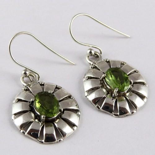 Modern Design Green Onyx Pearl 925 Sterling Silver Earring
