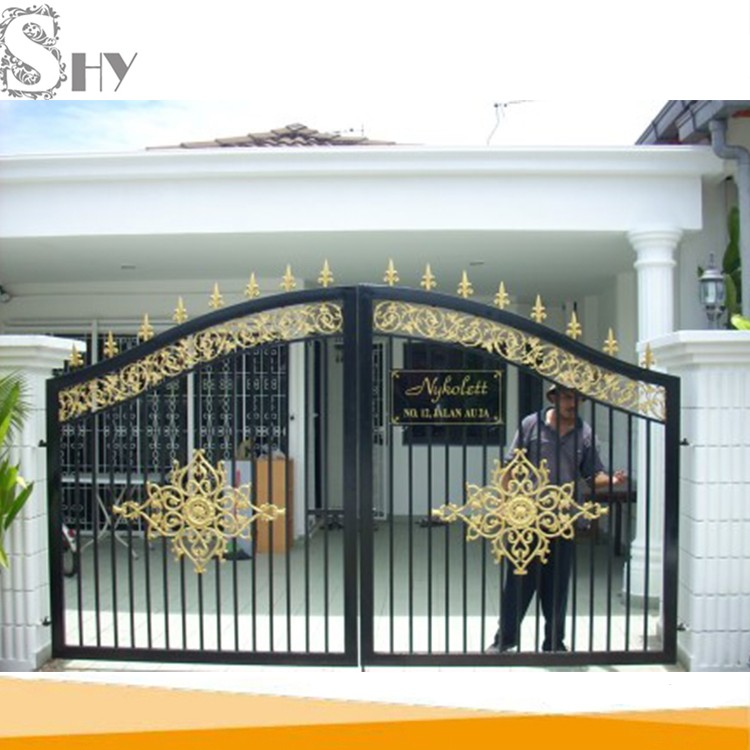 Factory Price House Wrought Iron Main Metal Gate Design