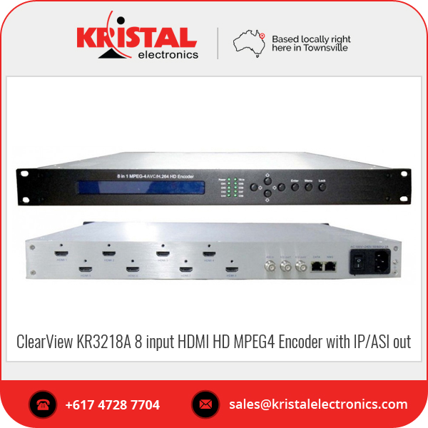 Wholesale ClearView KR3218A 8 input HDMI HD MPEG4 Encoder with IP/ASI out