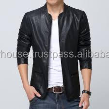 ce5793464 Plus Size 3XL Korean Style mens jackets and coats Slim Fit Stylish Men  s PU