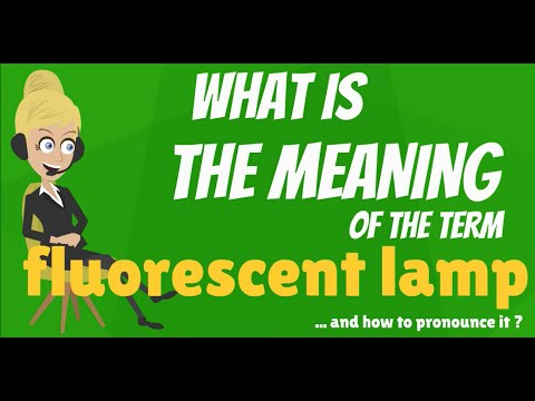 What Does FLUORESCENT LAMP Mean? FLUORESCENT LAMP Meaning