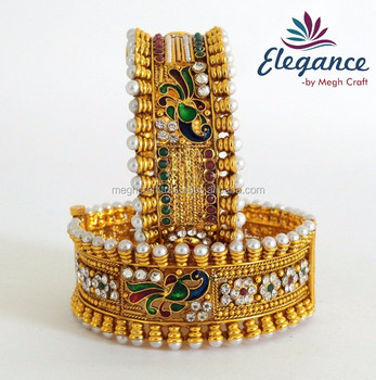 bangle thick gold indian kada bangles imitation bracelet wide