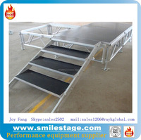 Take-apart aluminum stage with three steps stage stairs