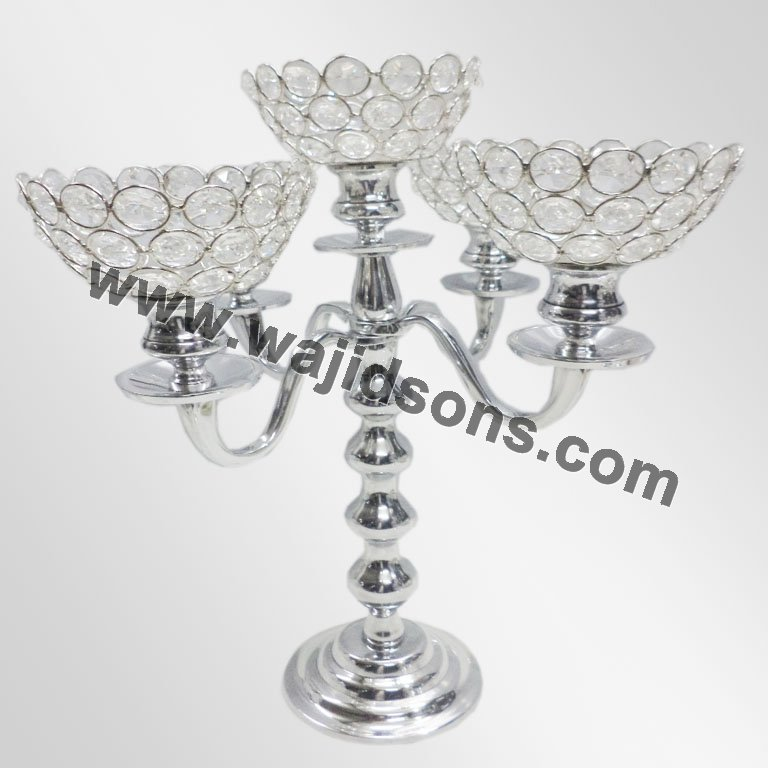 elegant clear crystal Christmas big stand on floor pillar crystal candle holder black candelabra wedding centerpieces