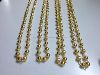 Golden Balls Necklace Made Of 21 Karat 880 Genuine Gold Buy Gold