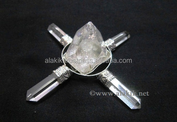 Apophyllite Generator With 4 Crystal Pencils   Buy Online Metaphysical  Products - Buy Pyramid Energy Generators,Esoteric Crystal