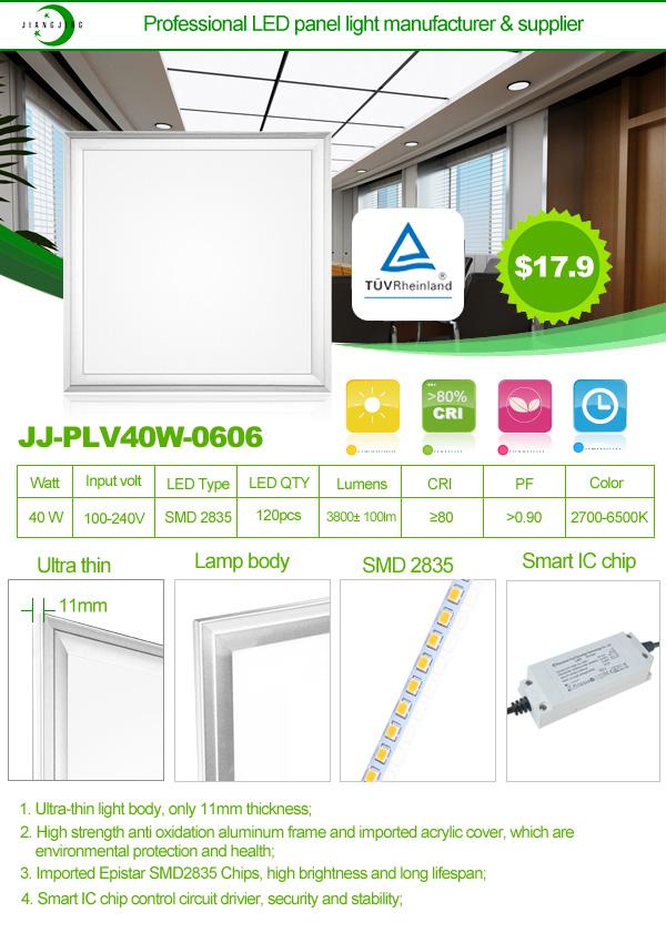 Ultra Thin Ul Dlc 2x2 40w Ac85-265v Led Panel Light Flat Ceiling ...