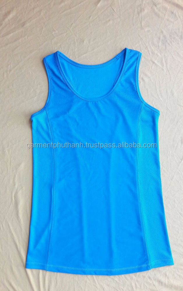 NEW DESIGN 2016 OF WOMEN TANK TOP , HEATHER FABRIC 92% POLY-8%SPANDEX