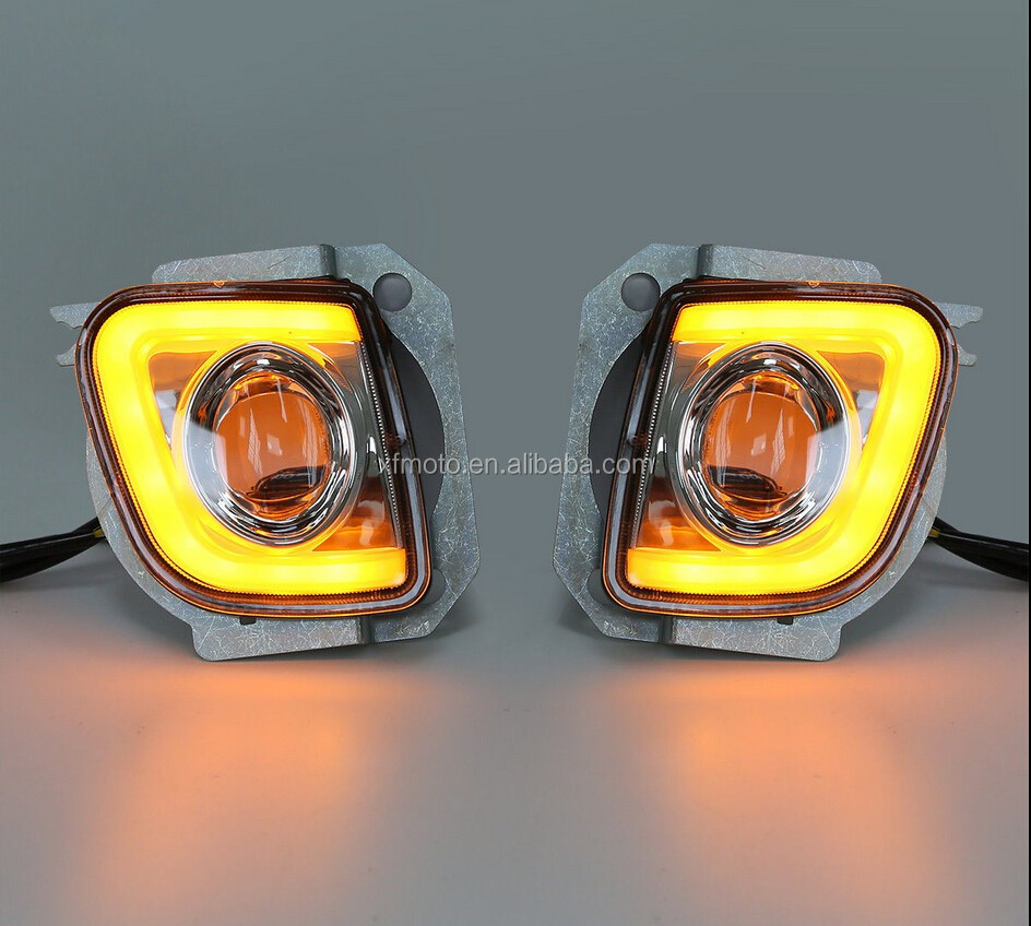 Turn Signal LED Fog Lights Kit For Honda Goldwing GL1800 F6B Valkyrie GL18RFL