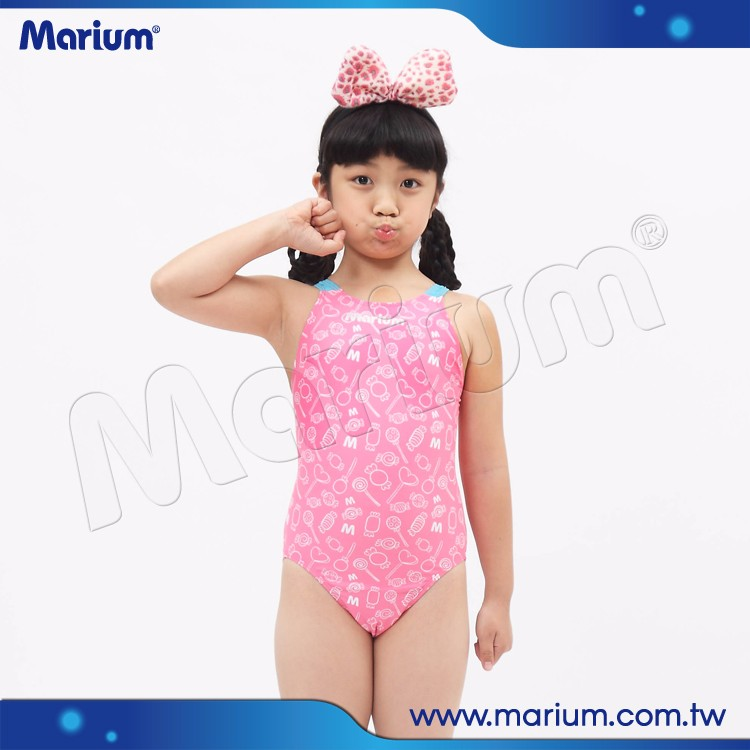 d9e3295726af7 Baby Girls Swimwear One Piece Swimming Suit For Kids Cute Pink Swimsuit