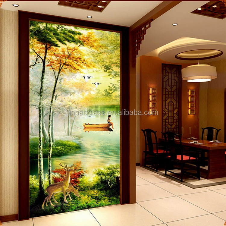 natural scenery glass painting buy natural scenery glass
