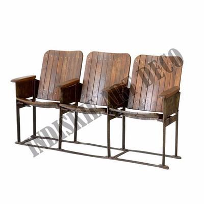 Sedie Da Cinema In Legno.Vecchio Cinema Banco Vintage Industriale Panchine Da Giardino Mobili