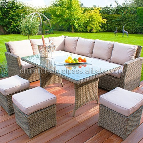 2015 Hot Sale PE rattan/wicker weave outdoor/balcony/garden/furniture/dining table/chair