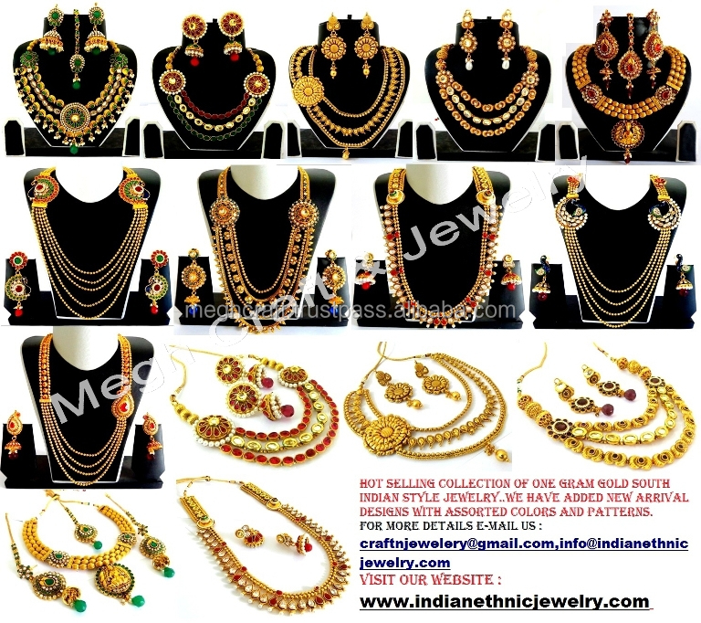 Wedding Wear Jewellery Dulhan Set Gold Plated Diamond Jewellery