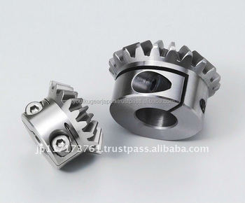Straight miter gear with locking mechanism Module 1.0 Carbon steel Ratio 1 Made in Japan KG STOCK GEARS