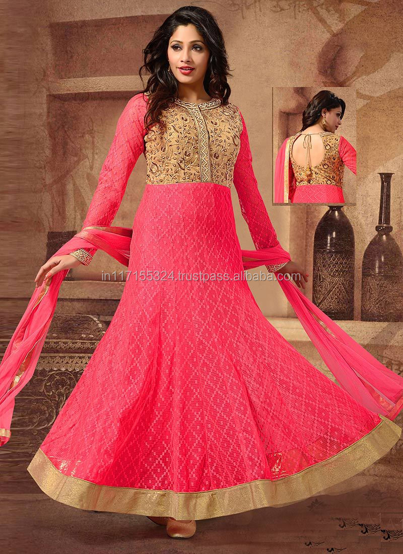 Indian Clothing Fancy Fashion Long Anarkali Suits\buy Women ...