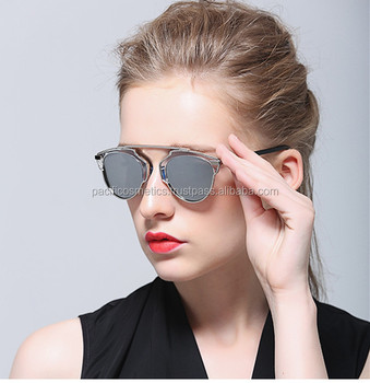designer fashion glasses  2017 New Cat Eye Sunglasses Women Brand Designer Fashion Twin ...