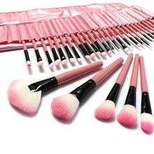 22 pcs Professional Cosmetic Makeup Brush Set With Pink Letter Print Bag