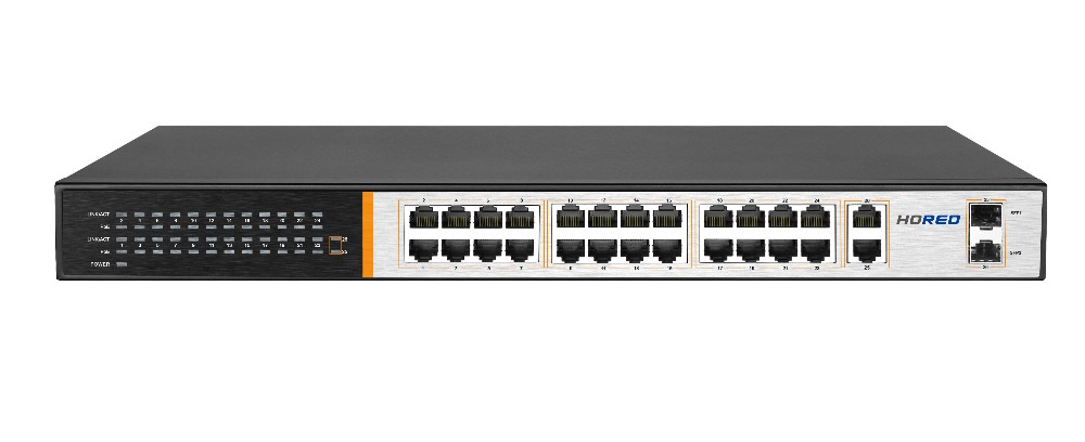 Fast Ethernet Switch 32 Puertos Poe Switch 48 V Para Hikvision ...