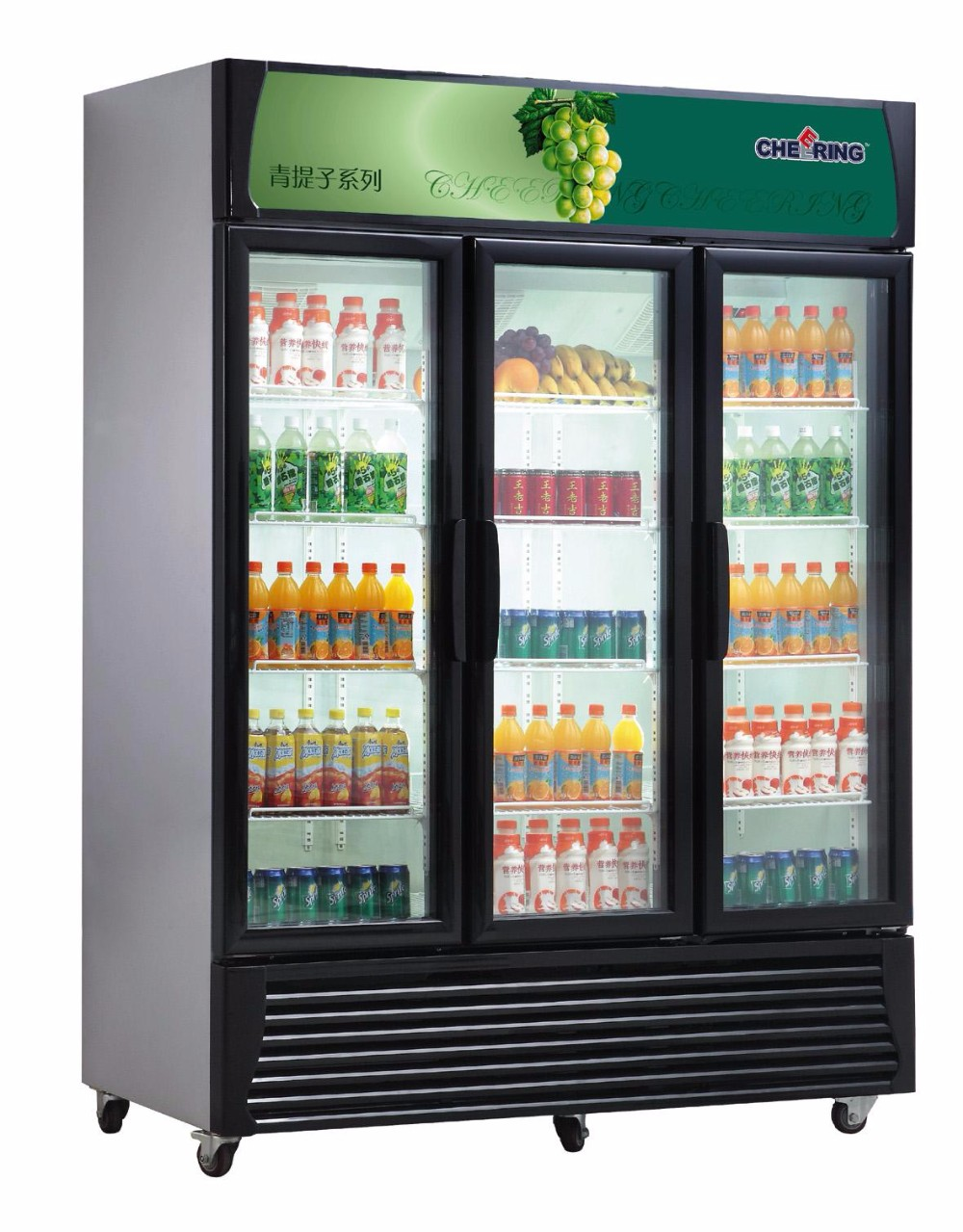 Used Single Door Supermarket Display Beverage Refrigerator