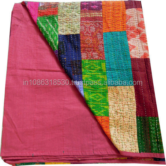 Home, Furniture & Diy Decorative Quilts & Bedspreads Bedspread Cotton Blanket Vintage Quilt Throw Ralli Gudari Handmade Kantha Quilt Meticulous Dyeing Processes