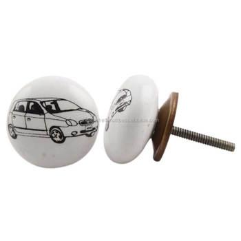 Auto Platte Zwart Wit Keramische Knoppen Deurknoppen Cvk 06 Buy Pull Deurknopkeramische Goedkope Lade Knoppenkledingkast Deurknop Product On