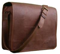 NEW Men Vintage Genuine Leather Satchel Shoulder Laptop Bag