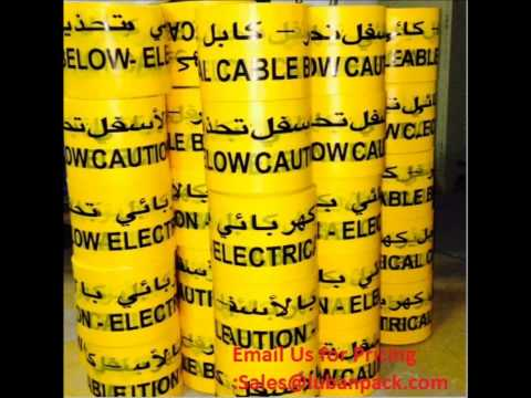 Yellow Warning Tape, Red Color Warning Tape, Caution Electrial Warning Tape,