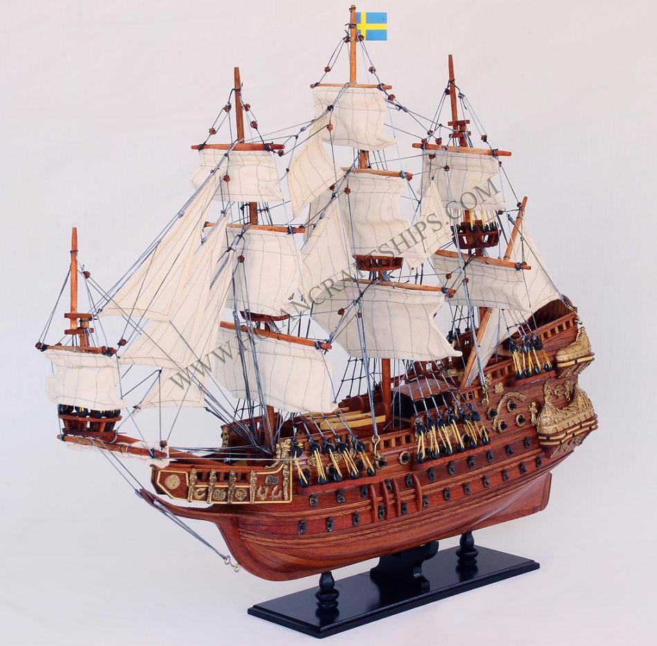 Wasa (vasa) Modelo De Barco De Madera,Artesanías De Vietnam-madera ...