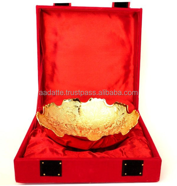 New Design gold and silver plated brass bowl