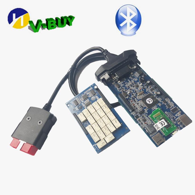 2016 высокое качество 2014.03 DS150 Bluetooth диагностический инструмент оборудование TCS CDP DS150E Bluetooth плюс сканер бесплатная доставка