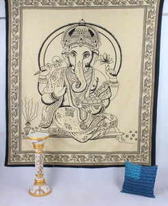 Indian Lord Ganesha Tapestry Queen Size Wall Hanging Ethnic Wall Decor Wall Art