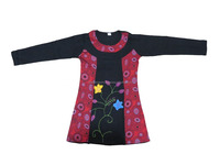 Floral Dress ladies tops latest design kaftan Long Dresses Boho Clothing