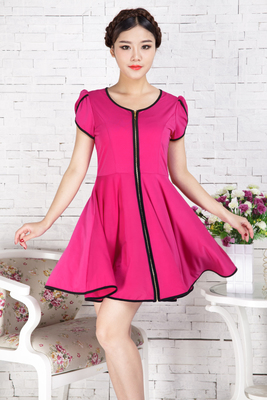 2014 Middle-aged Middle-aged Ladies Summer Dresses Large Size ...