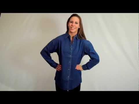 Womens Denim Shirts: Embroidered, blank womens denim shirts for sale online