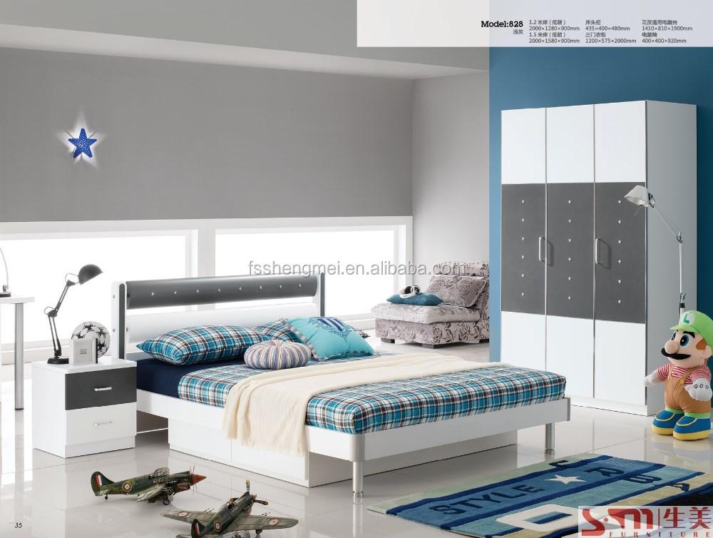 Slaapkamer Meubels Wit : Jongens kids kinderen slaapkamer meubels lades bed met rvs benen